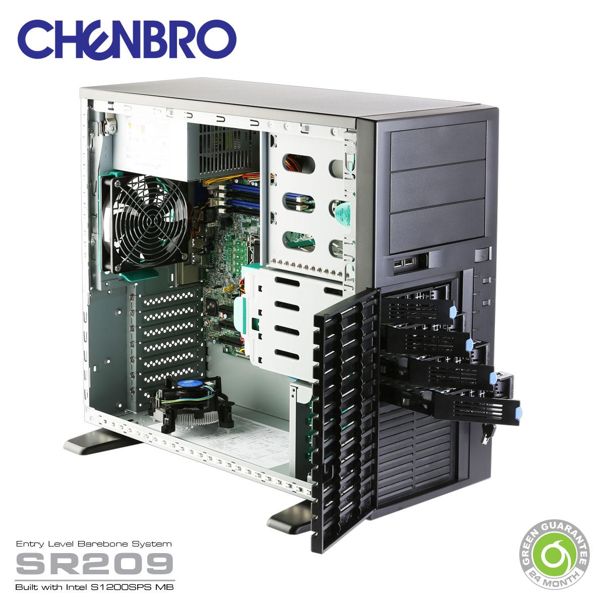 سرور_چنبرو_گارانتی_گرین_chenbro_server_green_guarantee