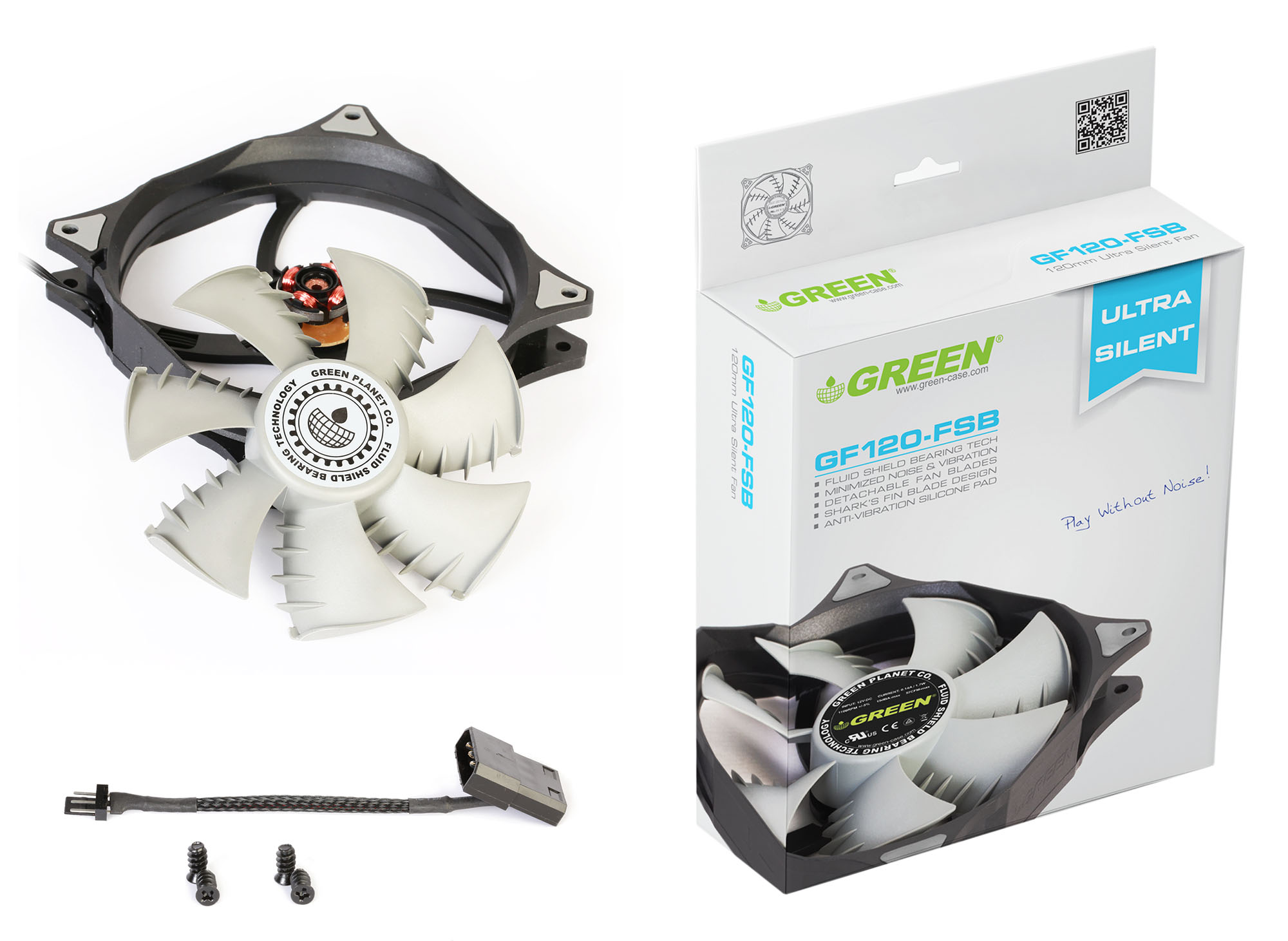 فن گرین GF120FSB کم صدا و قدرتمند