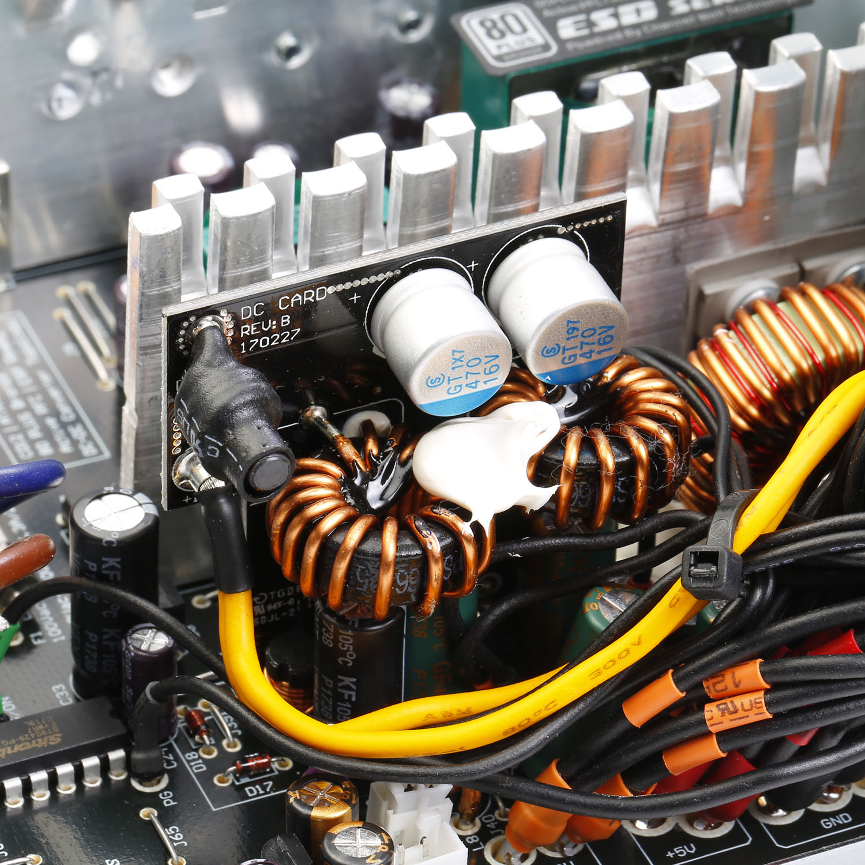 ESD Series DC to DC Power Supply Inside 01 - منبع تغذیه کامپیوتر گرین مدل GP330A-ESD
