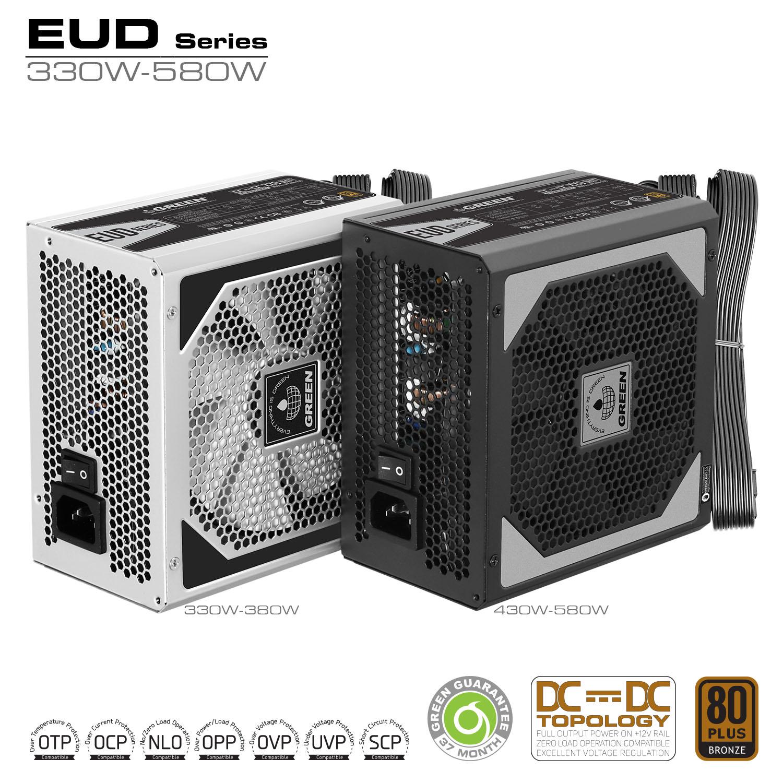 EUD Series DC to DC Power Supply - منبع تغذیه کامپیوتر گرین مدل GP380A-EUD