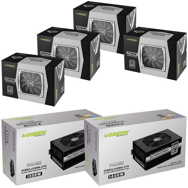 جعبه و بسته بندی پاورهای OC+ Series گرین