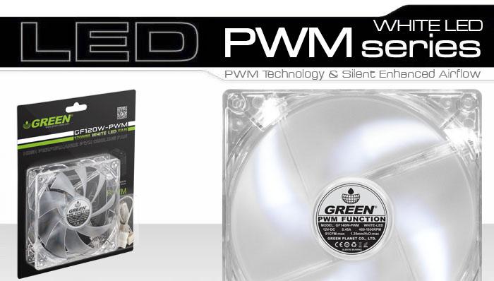 فن PWM گرین با نور سفید