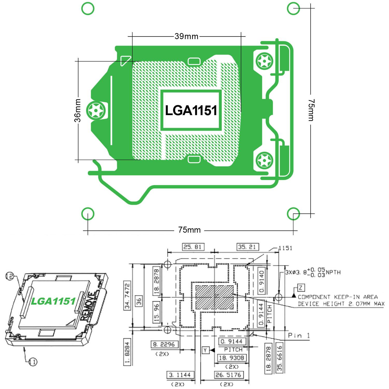 LGA1151 Socket Layout